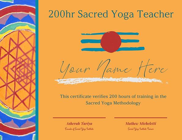 Sacred Yoga YTT Graduation Certificate.j