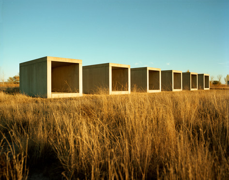 15 untitled works in concrete, by Donald Judd