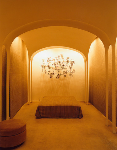 Brick House interior, by Philip Johnson