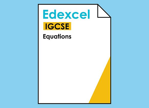Edexcel IGCSE Equations
