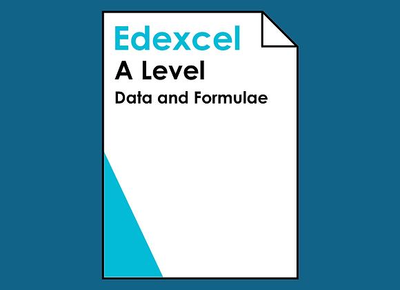 Edexcel A Level Data and Formulae