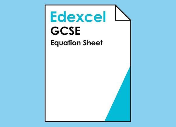 Edexcel GCSE Equation Sheet