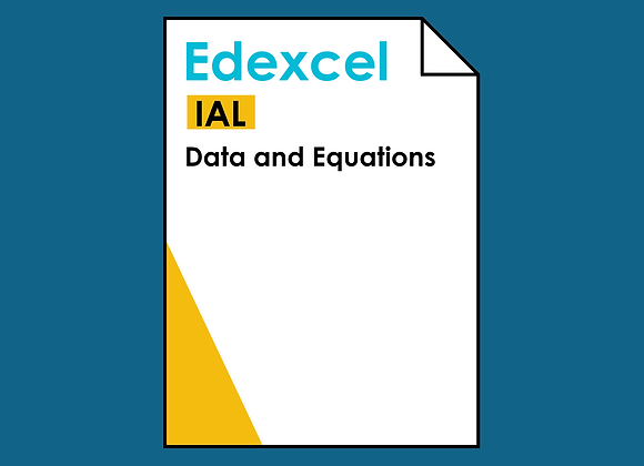 Edexcel IAL Data and Equations