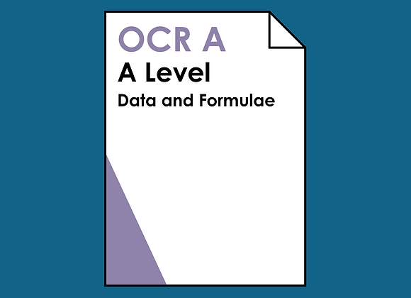 OCR A A Level Data and Formulae