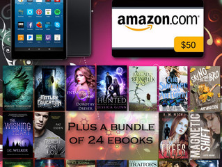 Win a Kindle Fire + 24 Books and $50