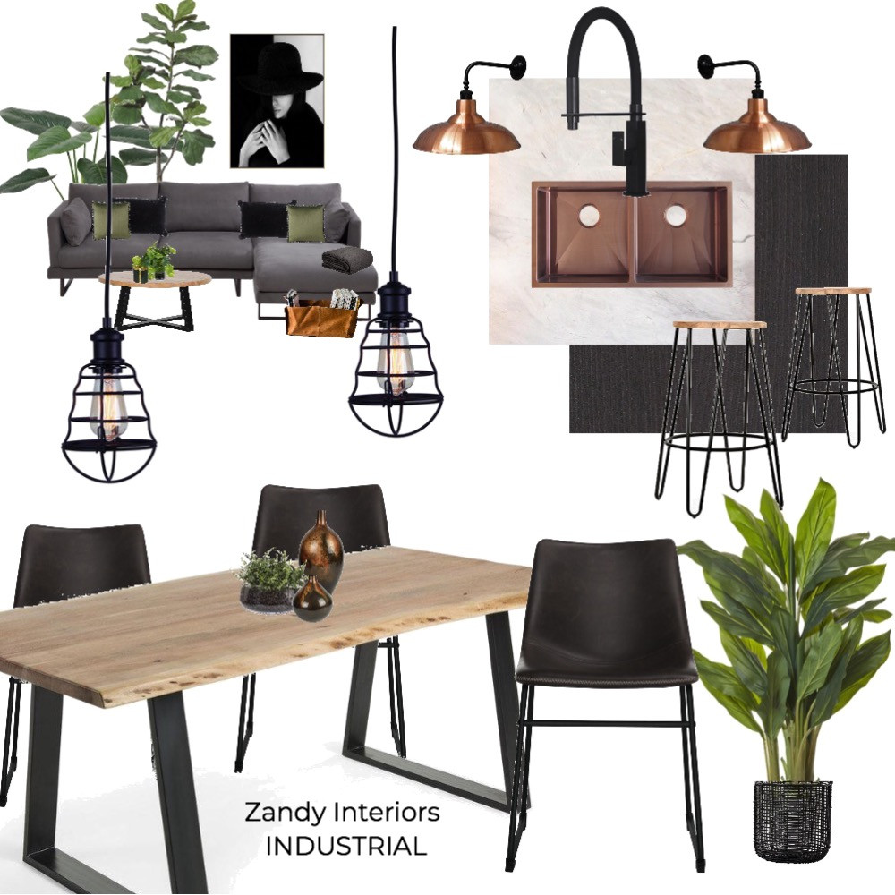 Industrial living - studio - concept board