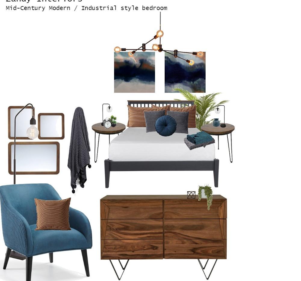 Mid-Century Modern/Industrial Bedroom