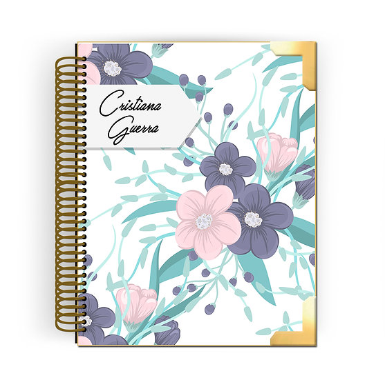 Gold Planner Pastel Flowers 2020