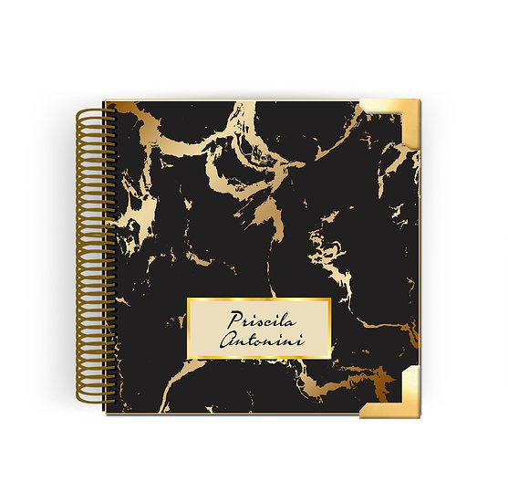 Planner Kyra -Gold Black Marble