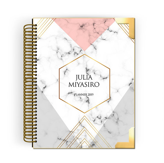 Gold Planner Chic Marble