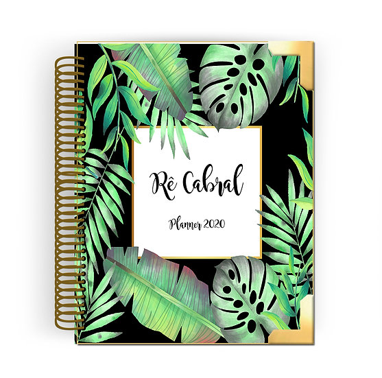 Gold Planner Tropical Black 2020