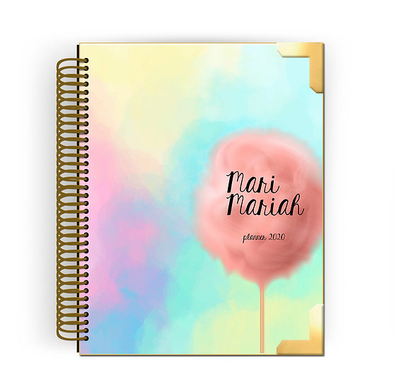 Gold Planner Cotton Candy WaterColor 2020