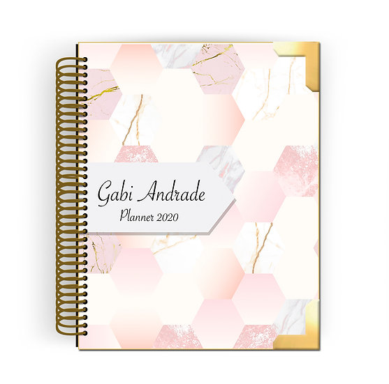 Gold Planner Bee Marble