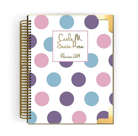 Gold Planner Dot Candy