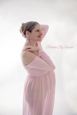 Backlit-maternity-pink-dress