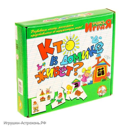 Дидактическая игра Кто в домике живет, Учись играя
