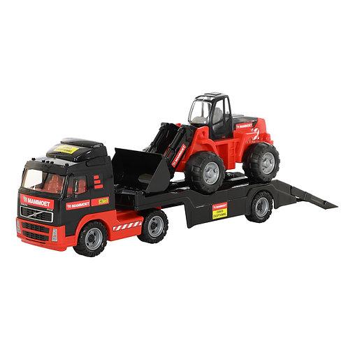 Полесье. Трейлер + трактор-погрузчик (в лотке)