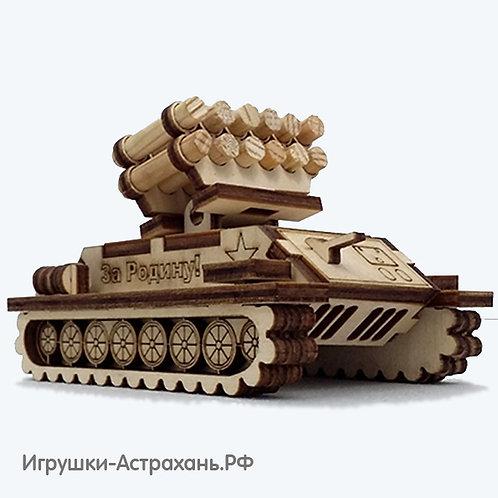 Сборная деревянная модель Ракетная установка