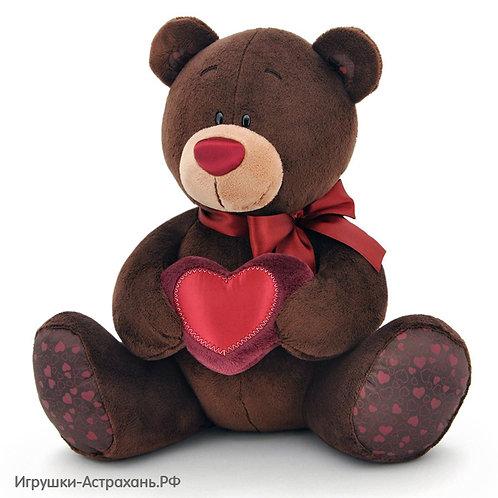 Мягкая игрушка Медведь Choco Orange с сердцем