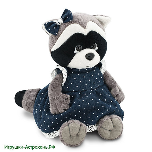 Мягкая игрушка Енот Девочка Дэйзи Джинсовая романтика