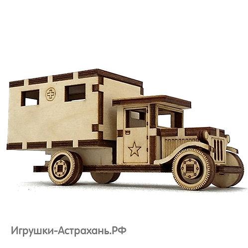 Сборная деревянная модель Санитарка