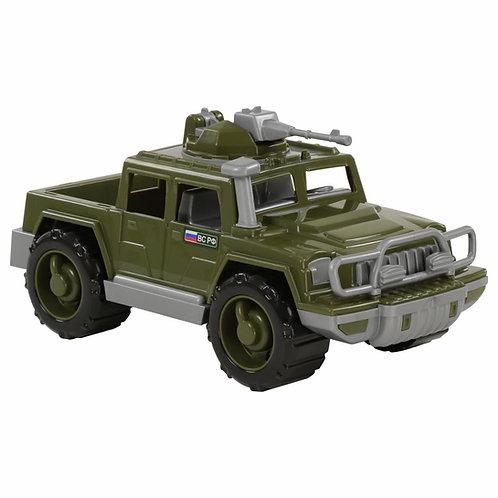 Полесье. Автомобиль Защитник военный пикап с пулемётом