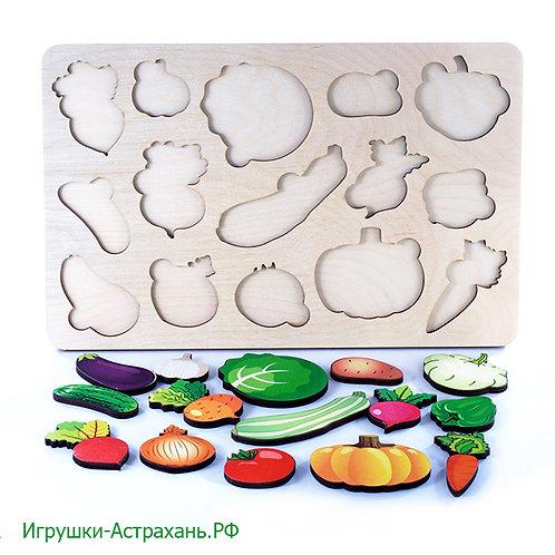 Развивающая доска большая Овощи