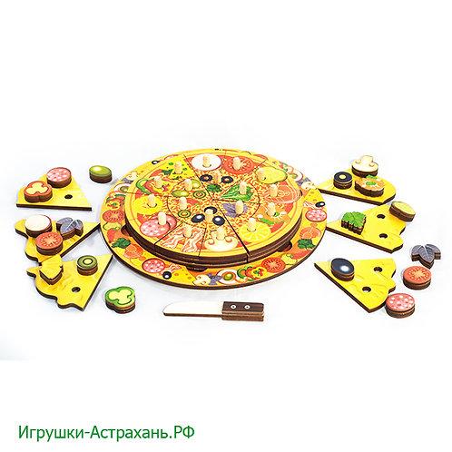 Развивающий игровой набор из дерева Пицца