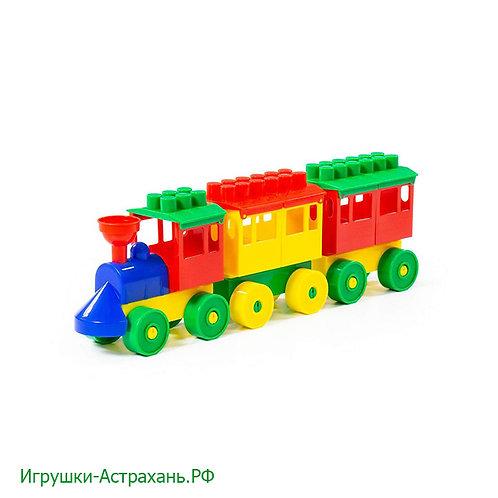 Полесье. Конструктор - Паровоз с двумя вагонами