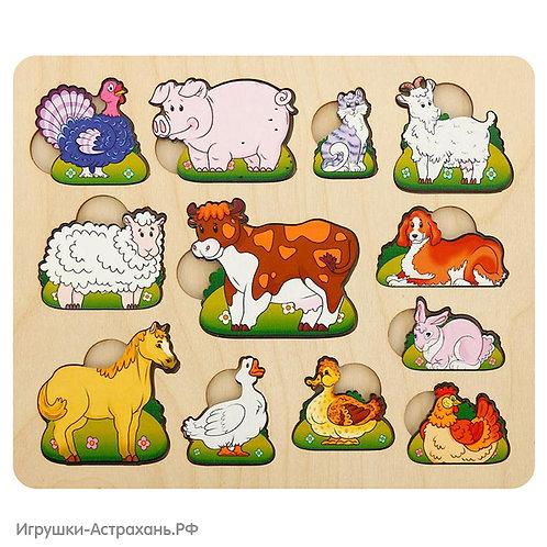 Развивающая доска Чей малыш Домашние животные