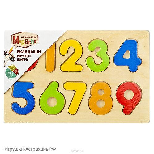 Mapacha Вкладыши из дерева Изучаем цифры