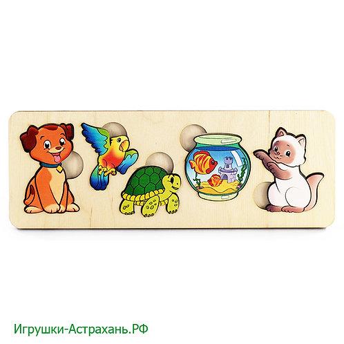 Нескучные игры. Пазл-рамка Домашние животные