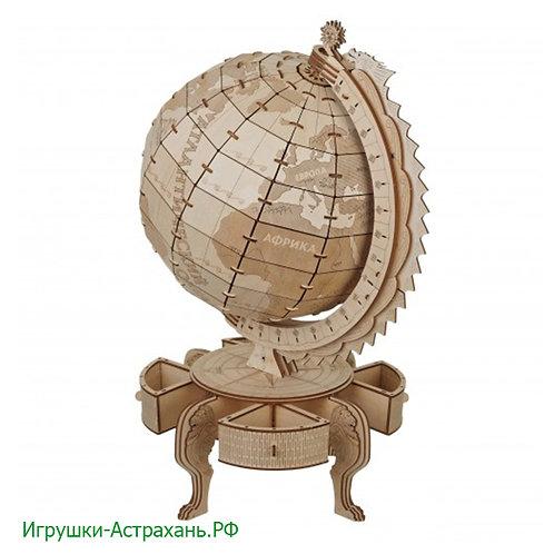 Конструктор из дерева Глобус Карта мира