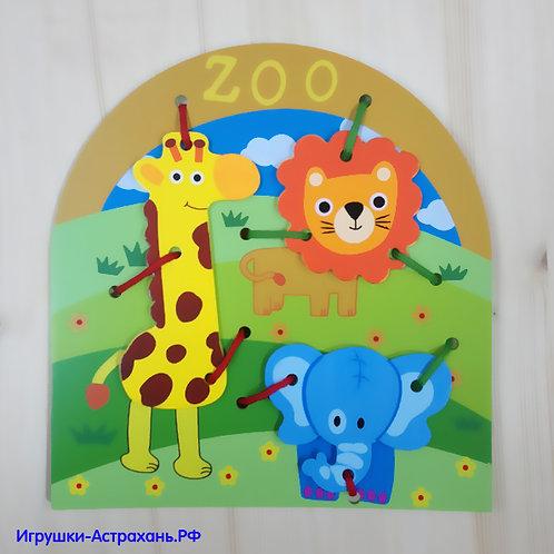 Mapacha Развивающая игра-шнуровка Зоопарк