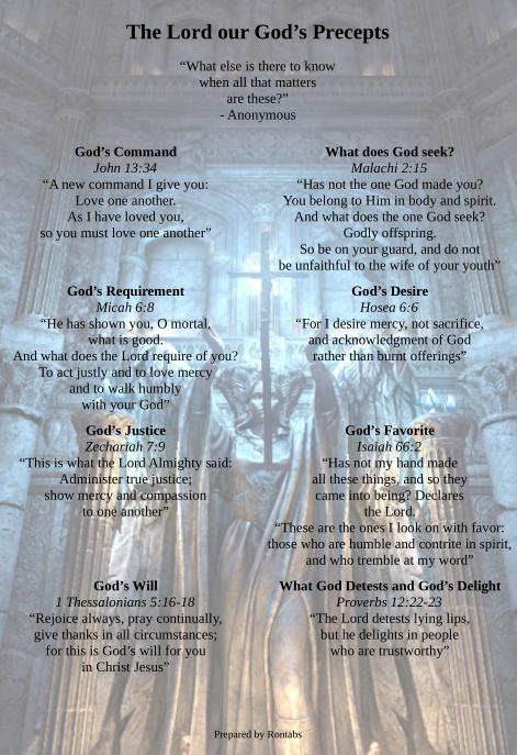 Download: The Precepts