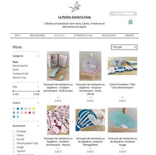 Ouverture de la boutique + code promo !!