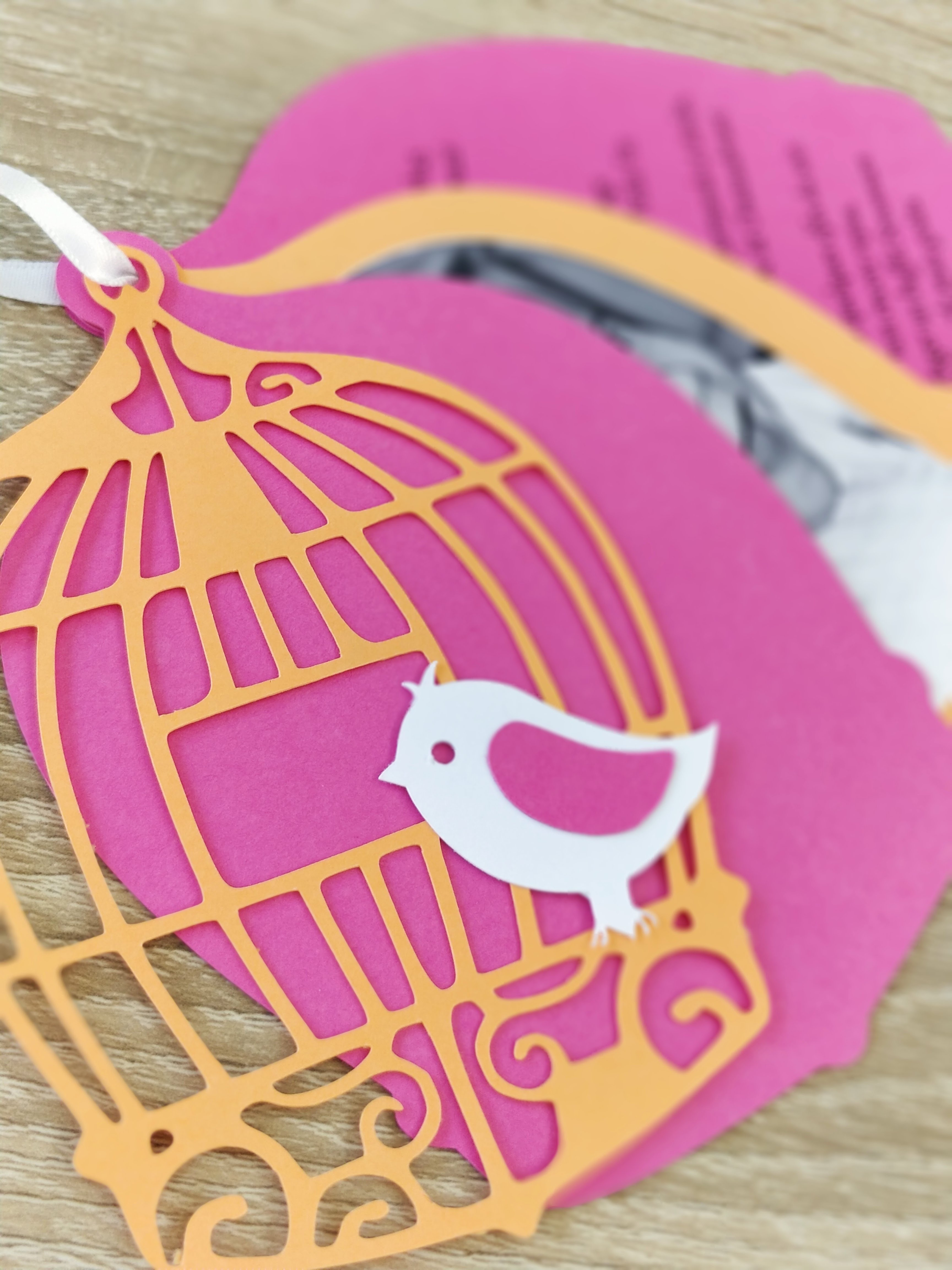 Invitation Cage à Oiseau
