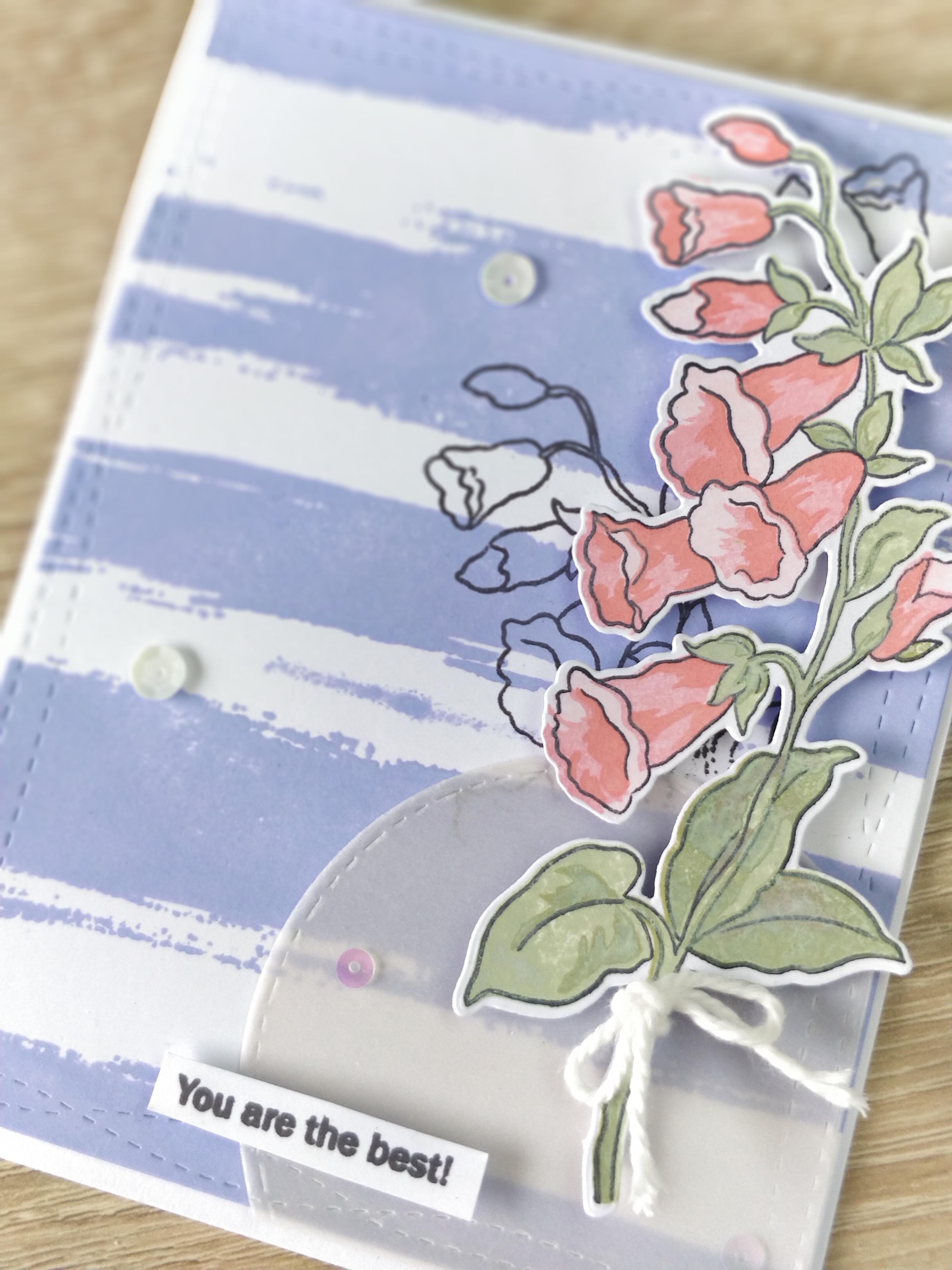 Carte You are the Best - Fleurs Clochettes