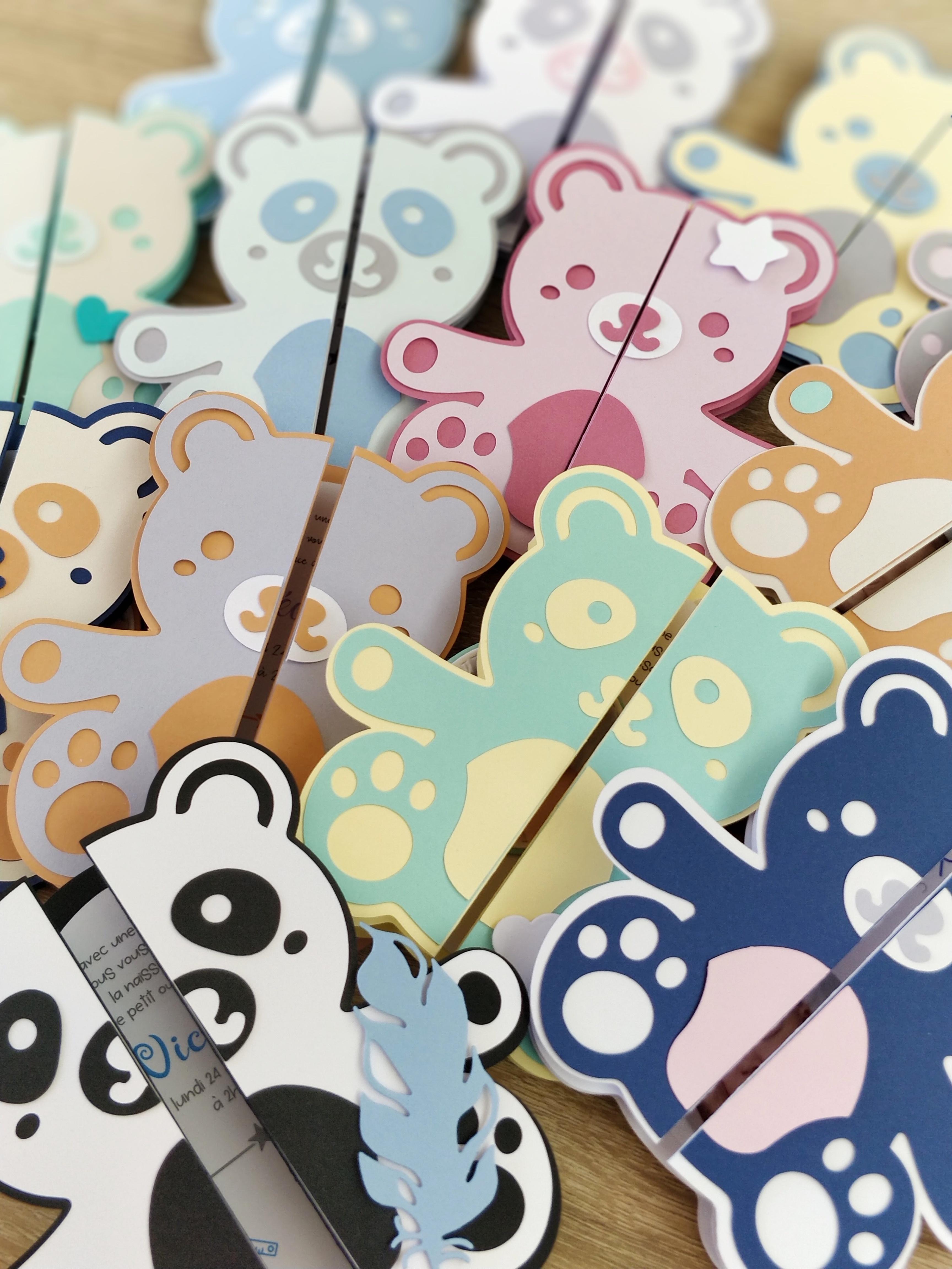 Faire-part original panda ou ourson