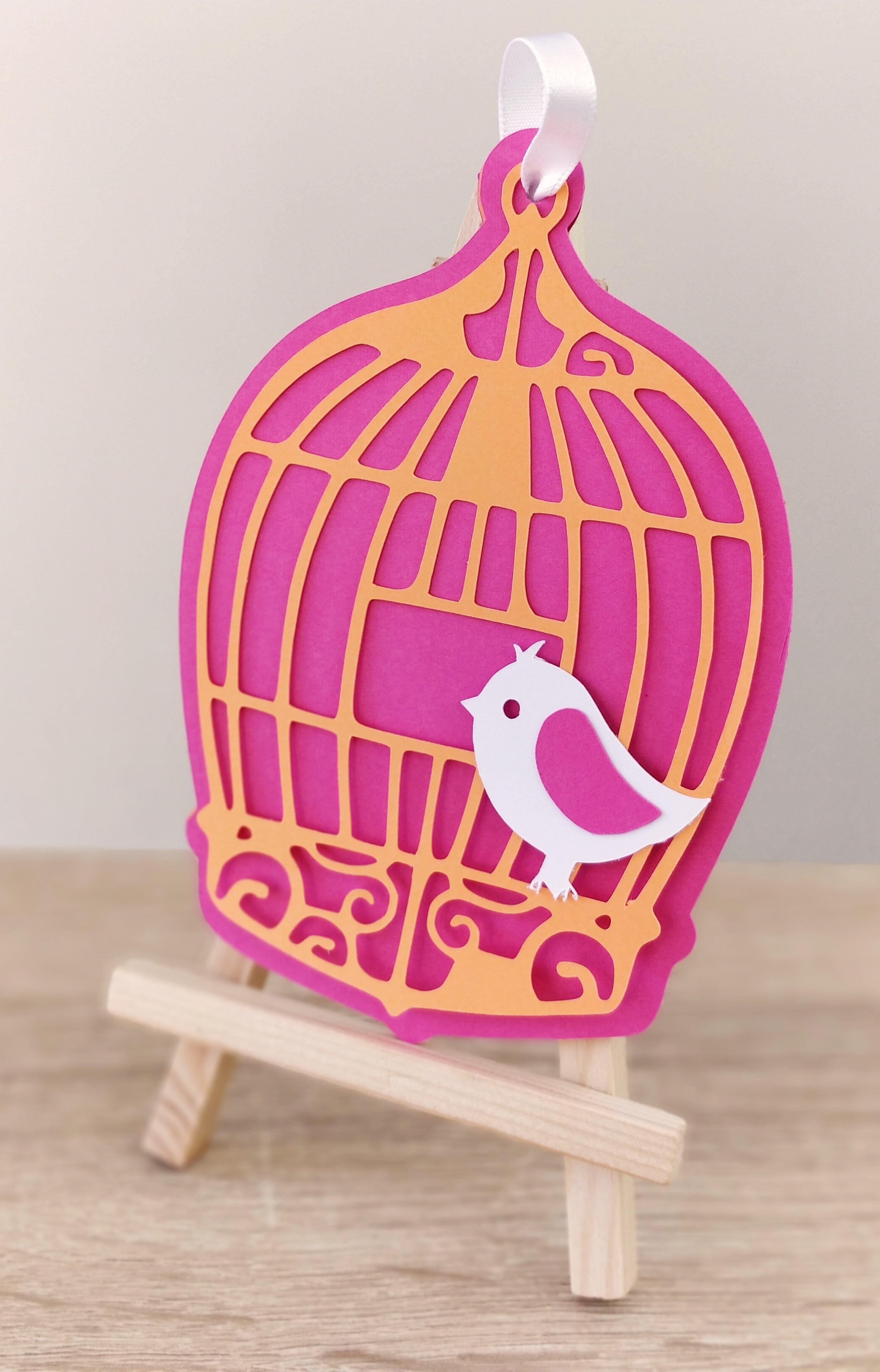Faire-part cage à oiseau