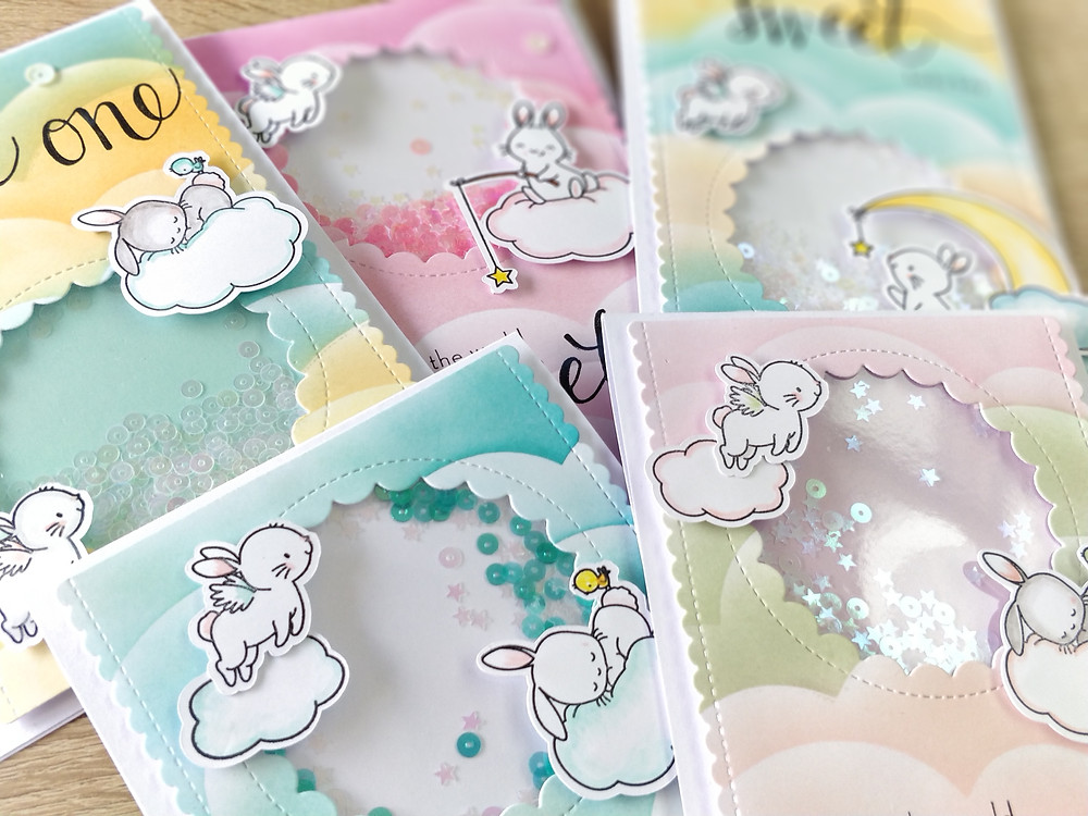 Shaker cards Mama Elephant Wish Upon a Star