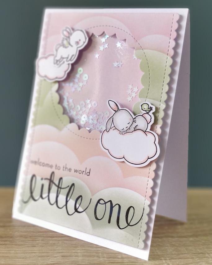 Shaker Card Mama Elephant