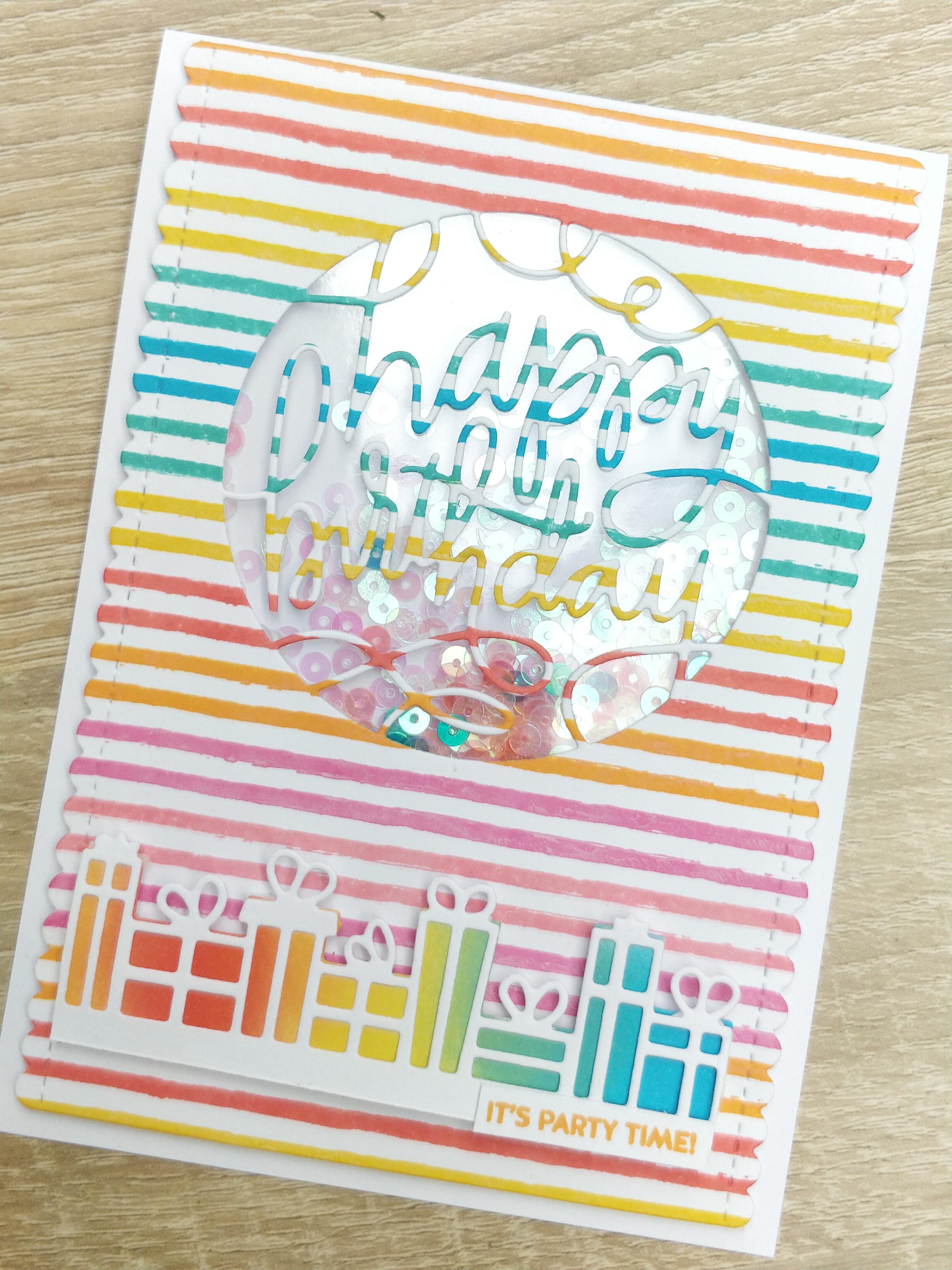 Shaker Card Happy Birthday