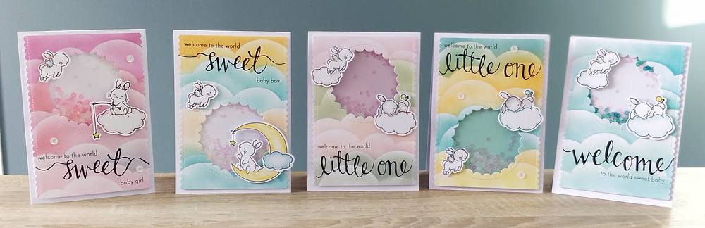 Shaker cards Welcome Baby - Wish Upon a Star