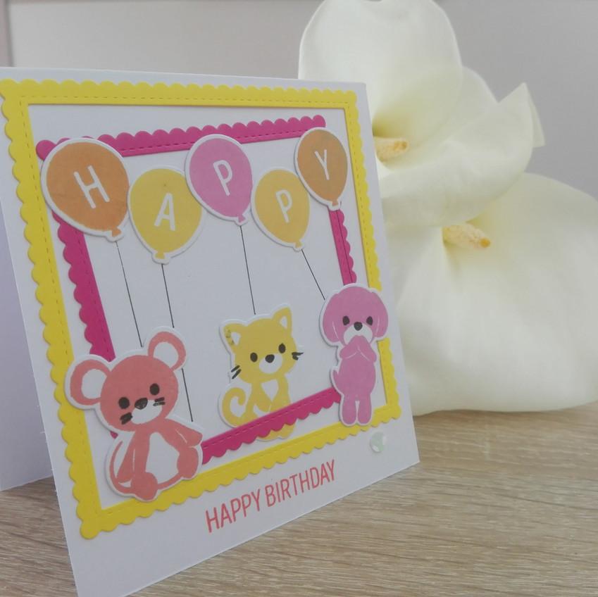 Carte d'anniversaire Ballons