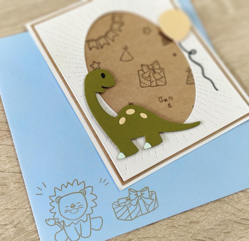 Carte Dinosaure et son enveloppe