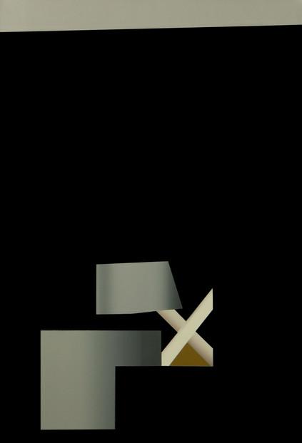 Noslun xix, oil on canvas, 75 x 110 cm, 2021