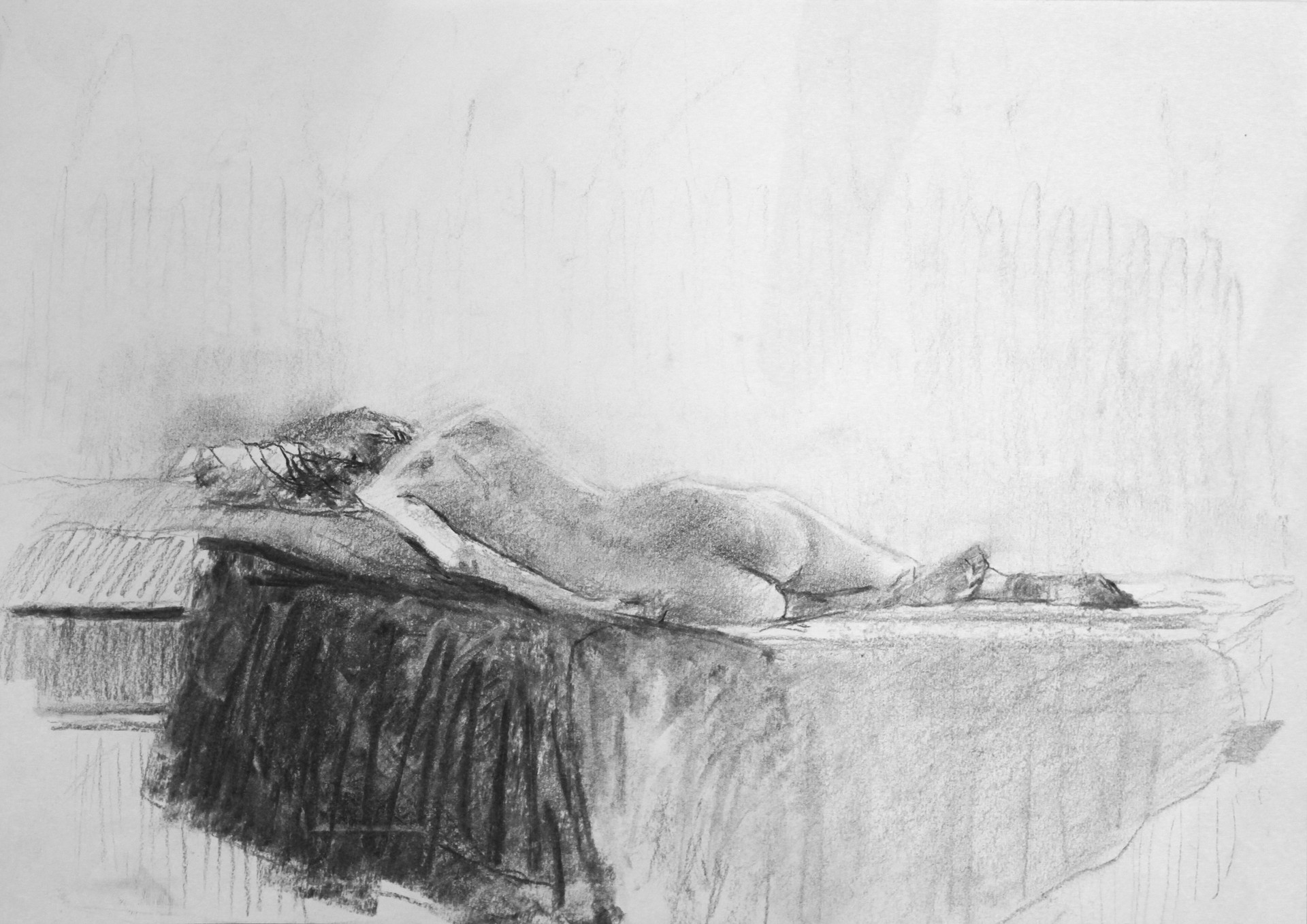 Study, graphite on paper, 42 x 29.7 cm, 2017