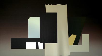 Twr, oil on board, 73 x 40.8 cm, 2020