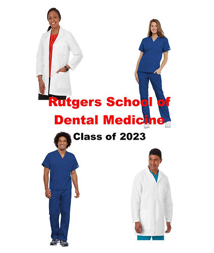 Rutgers School of Dental Medicine Uniform Package Class of 2023- Extended Sizing